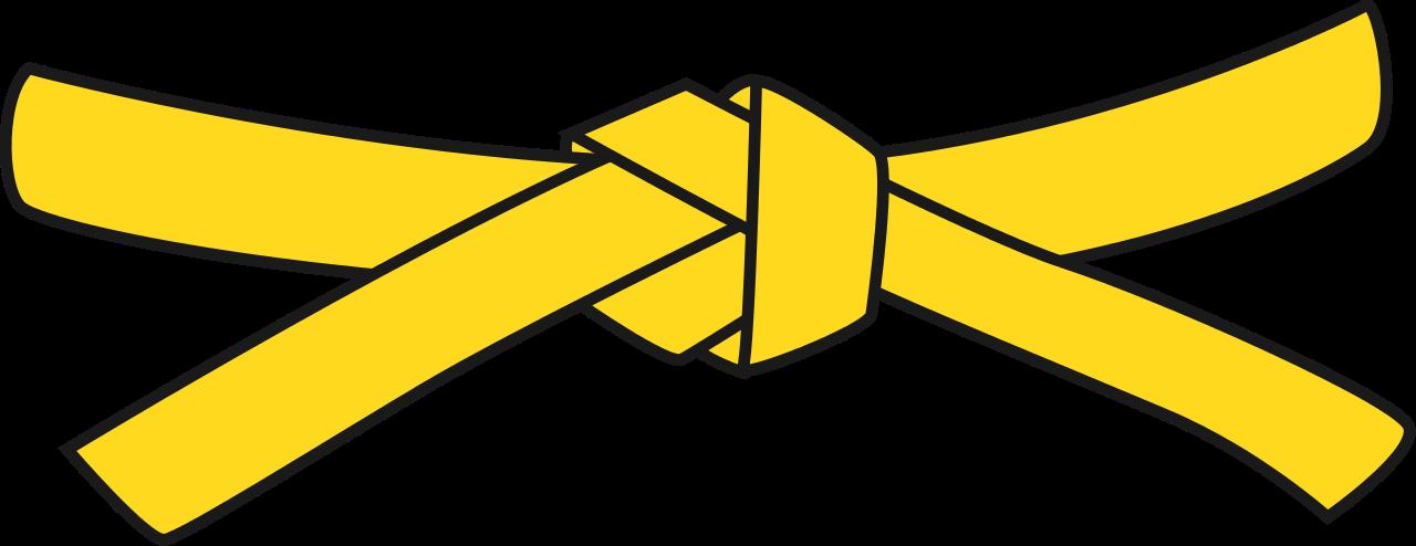 Belt clipart vector. File judo yellow svg