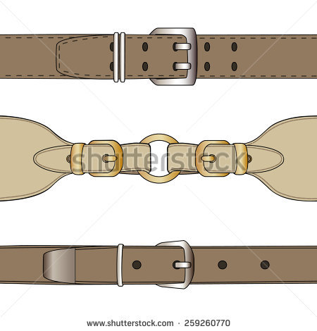 Belt clipart vector. Leather straps clipground silver