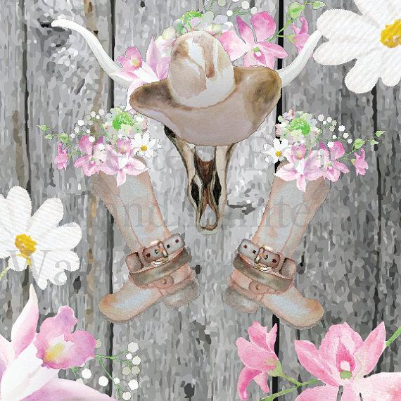 Belt clipart western belt. Watercolor boho cowgirl boots