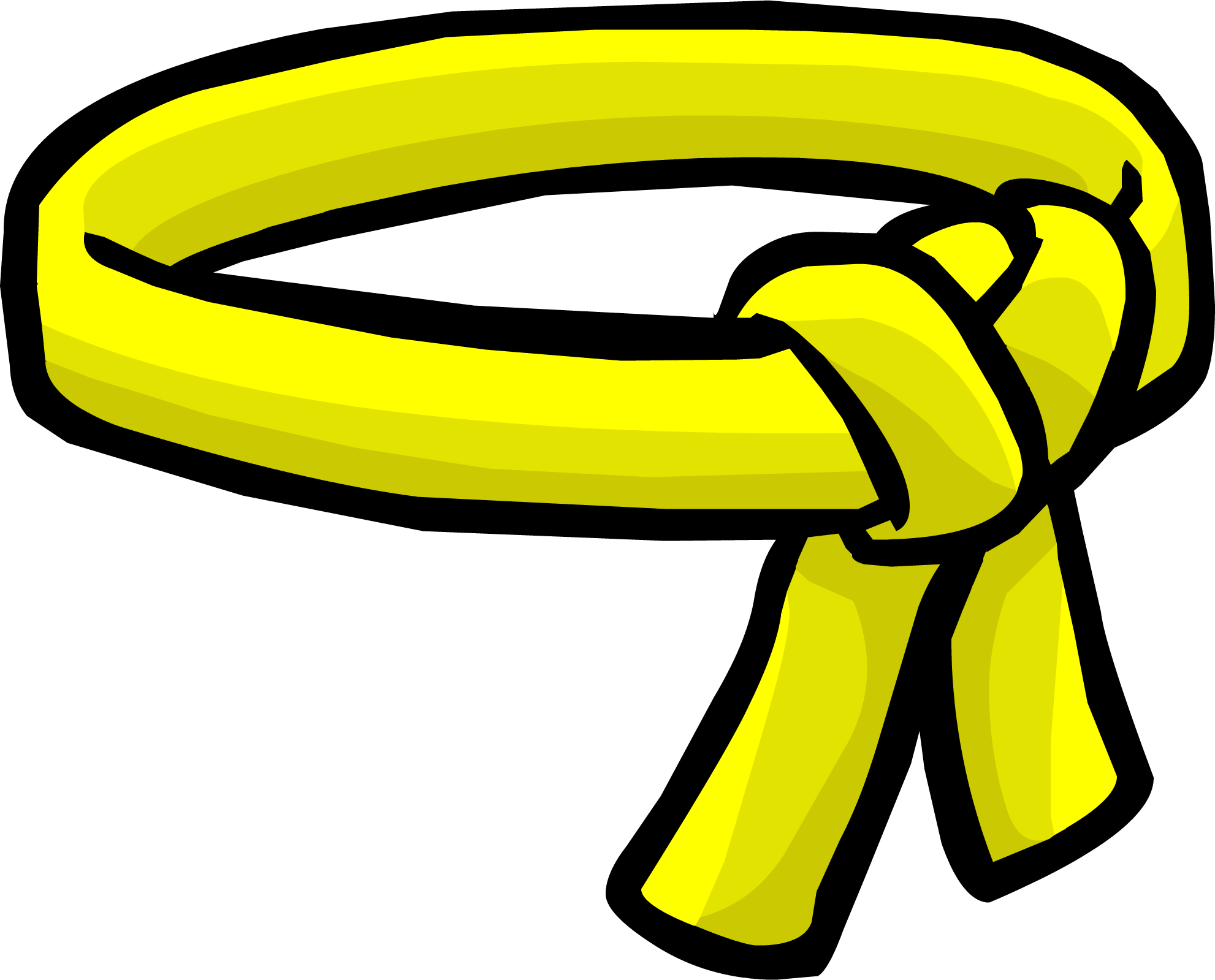 Yellow ninja belt penguin. Club clipart club card
