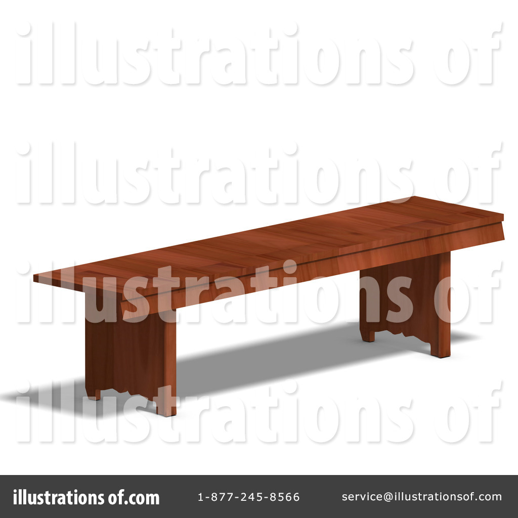 Illustration by ralf royaltyfree. Bench clipart