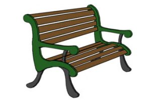 collection of high. Bench clipart