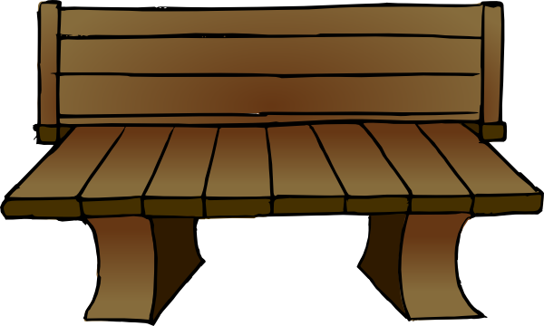 Furniture clipart cartoon. Bench