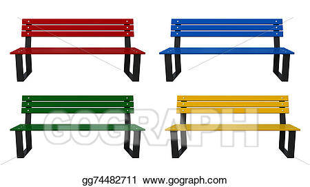 Bench clipart. Stock illustration gg gograph