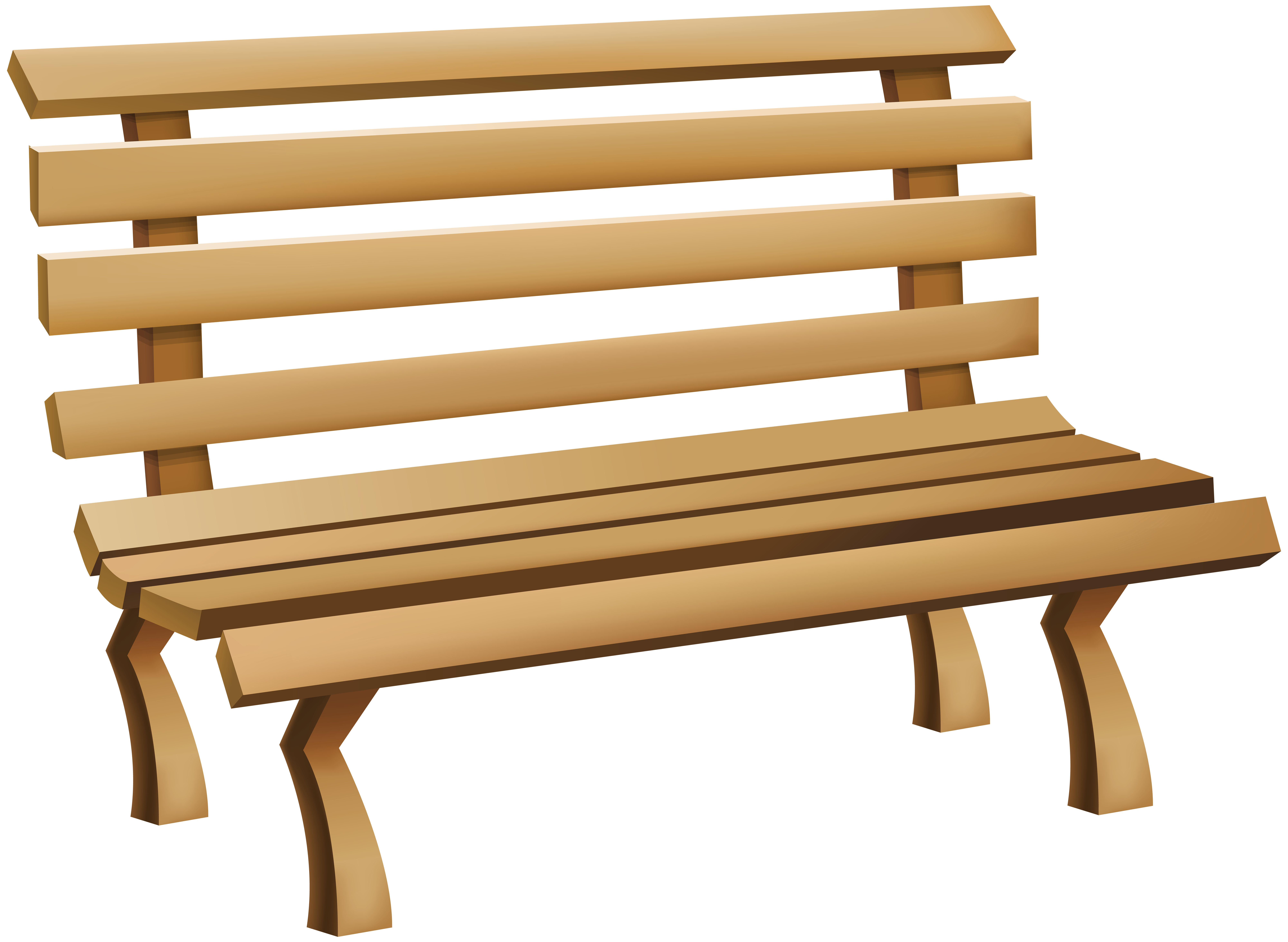 Bench clipart. Png clip art image