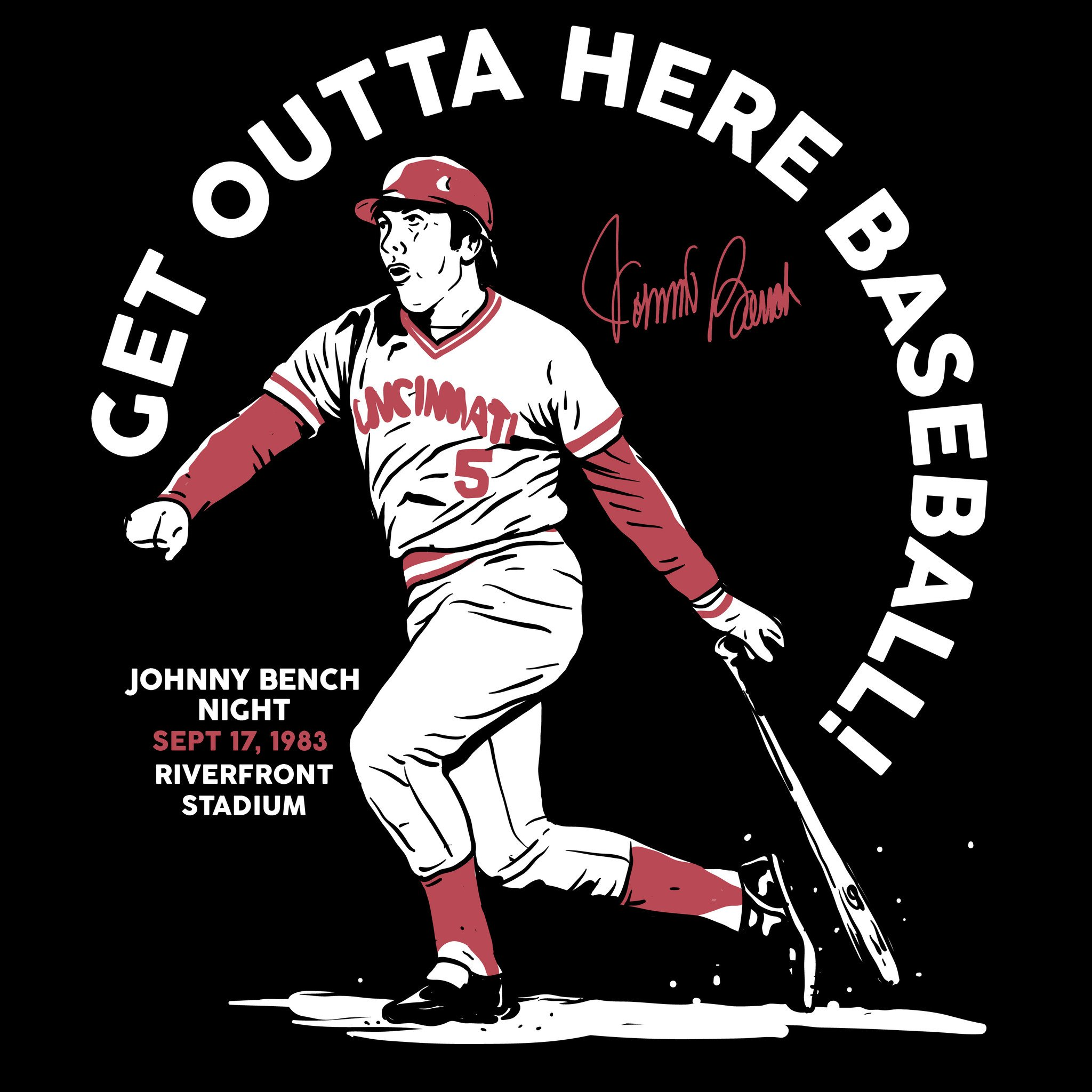 Get outta here johnny. Bench clipart baseball