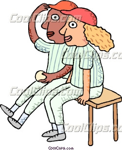 Pencil and in color. Bench clipart baseball
