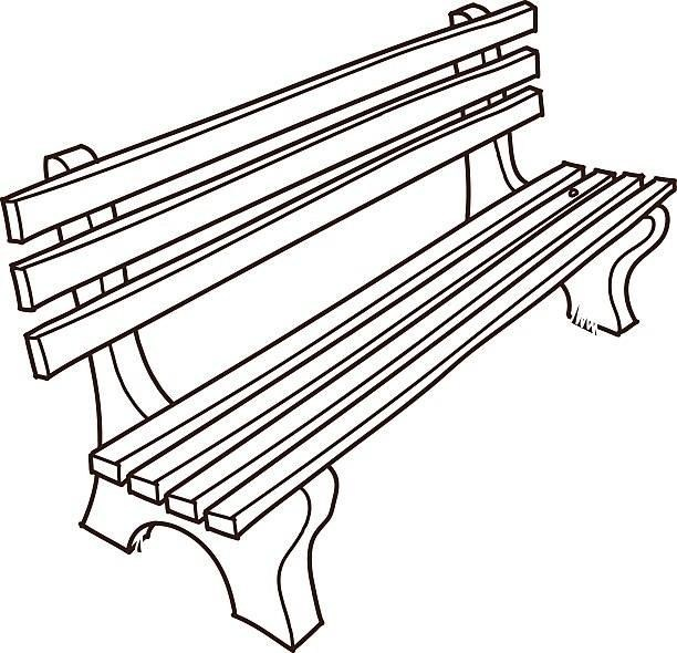 Letters regarding . Bench clipart black and white