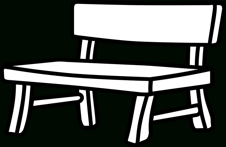 Park letters pencil in. Bench clipart black and white