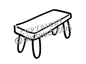 Bench clipart black and white. Clip art basic words