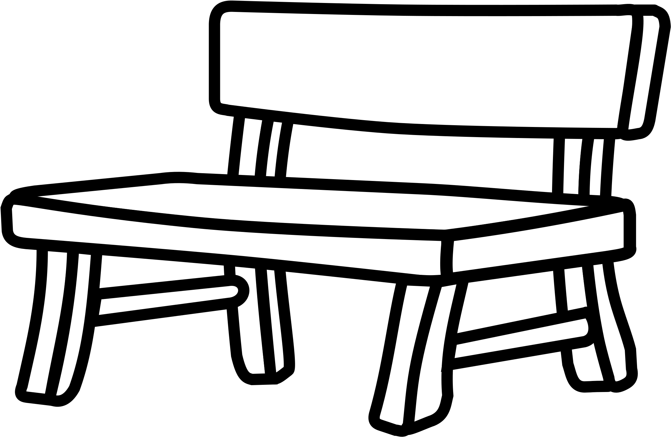 Drawing park png . Bench clipart black and white