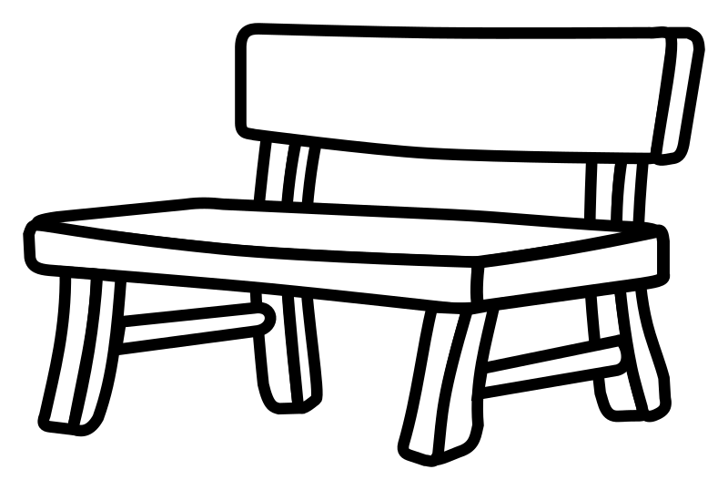 Surprising Bench Clipart Black And White Bench Black And White Machost Co Dining Chair Design Ideas Machostcouk