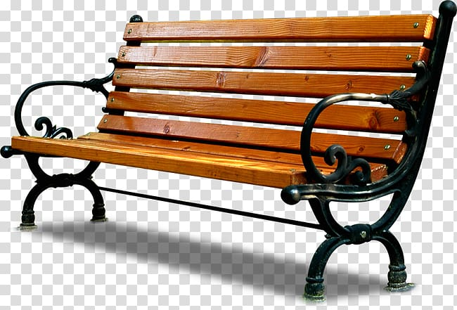 Bench clipart brown wooden. Park seat chair transparent