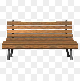 Park png vectors psd. Bench clipart brown wooden