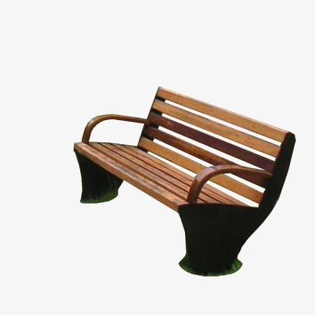 Solid wood park roadside. Bench clipart brown wooden