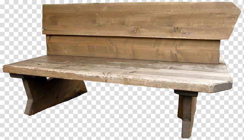 Chair garden transparent . Bench clipart brown wooden
