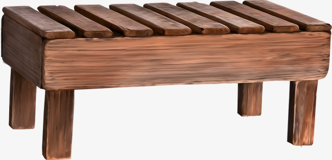 Stool wood png image. Bench clipart brown wooden