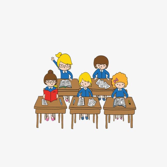 Background cartoon desk campus. Bench clipart classroom