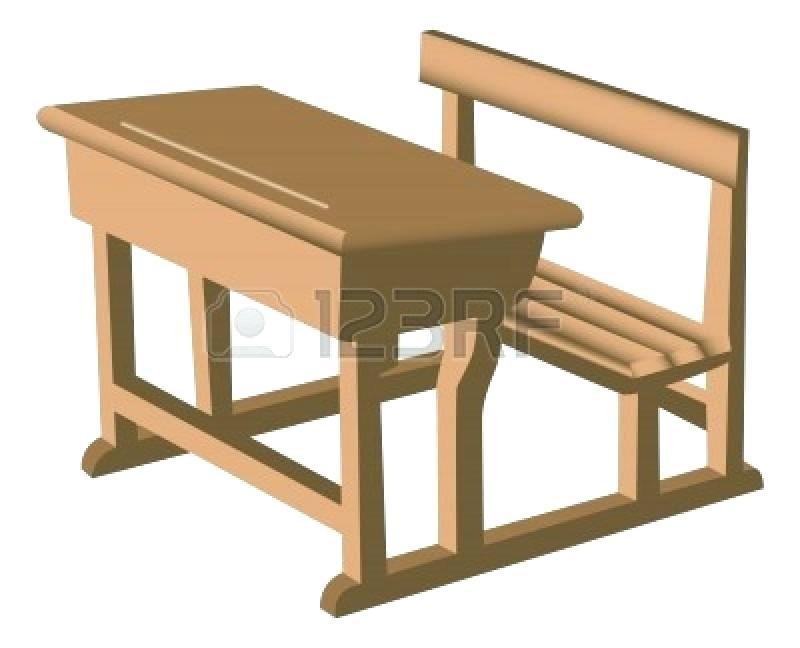 Class desk cliparts free. Bench clipart classroom
