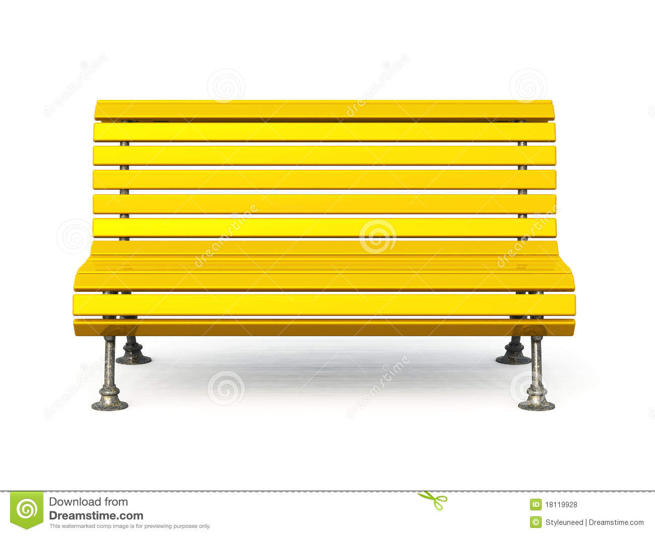 White parkh in amongst. Bench clipart colourful
