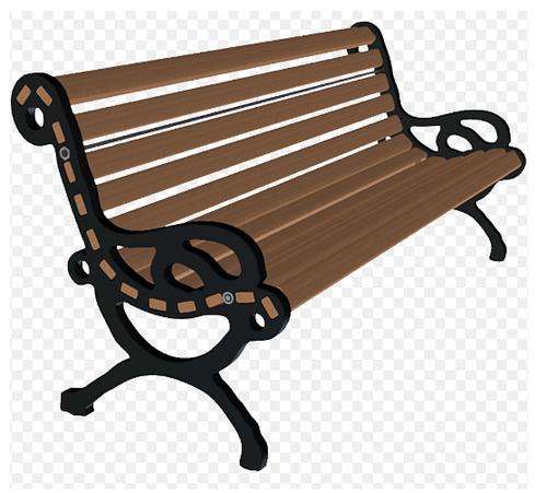 Frp strip c i. Bench clipart garden bench