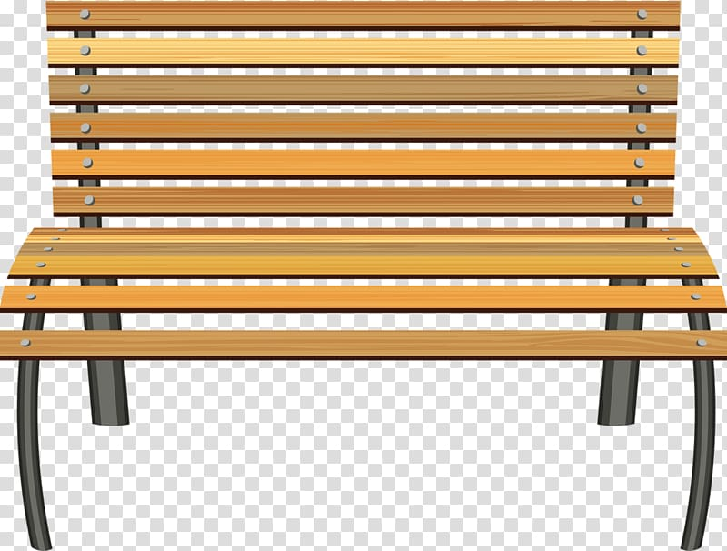 Furniture table transparent background. Bench clipart garden bench