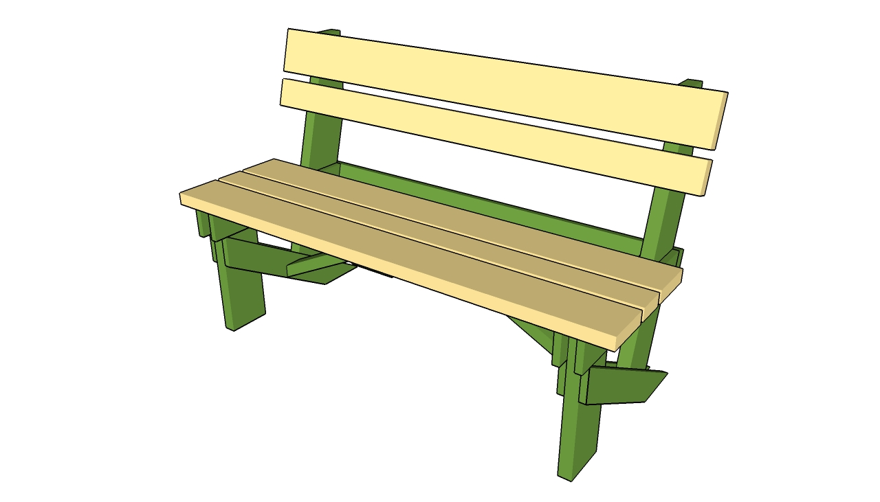 Bench clipart garden bench. Simple plans free how