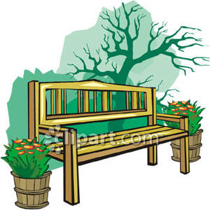 A in royalty free. Bench clipart garden bench