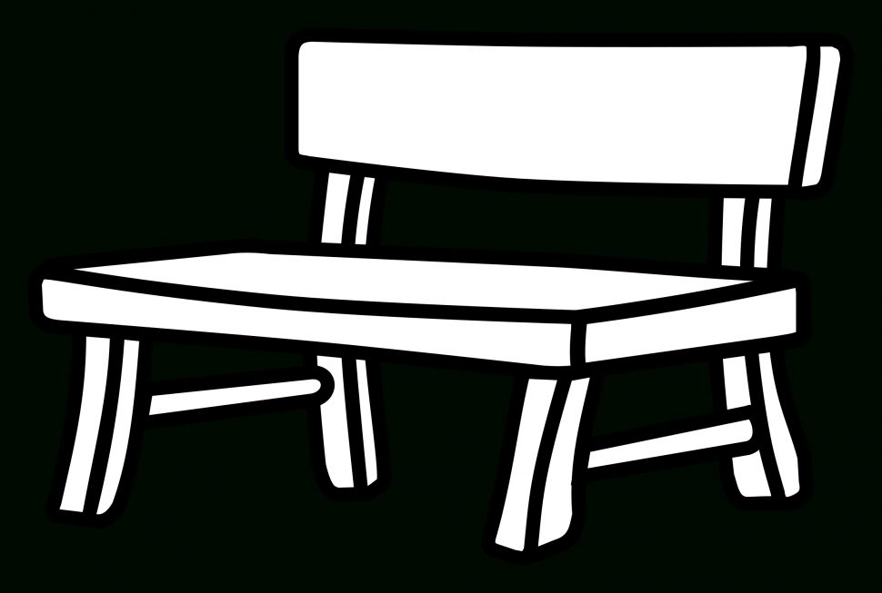 Shocking white parkench images. Bench clipart modern