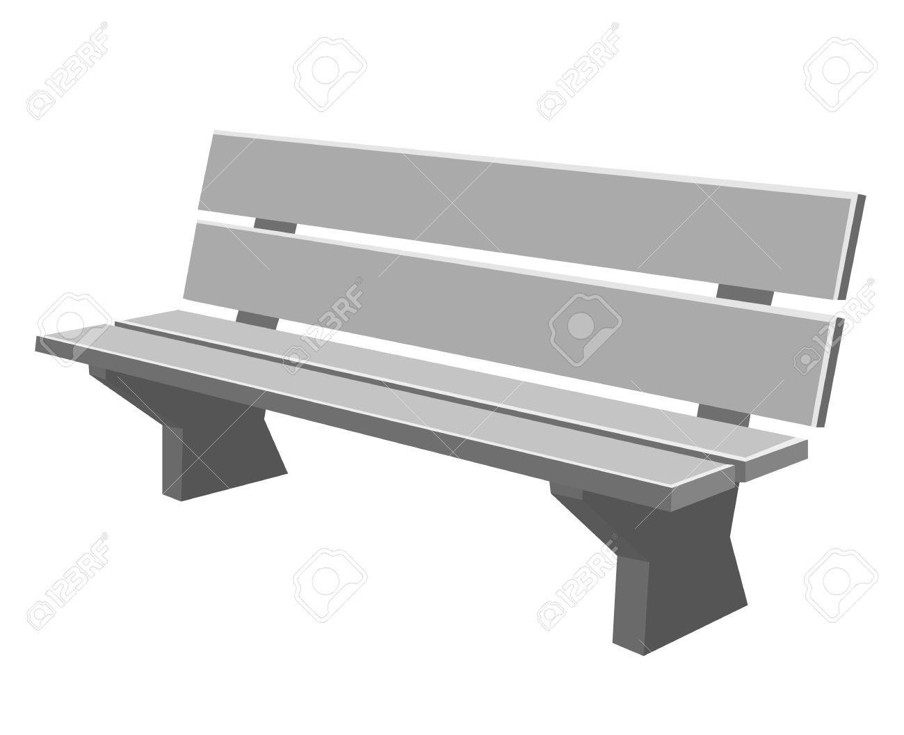 Park bence black and. Bench clipart modern