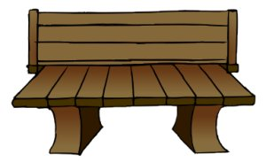 Free wooden graphics images. Bench clipart outdoor