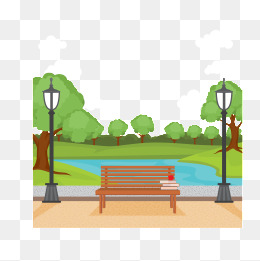 Benches png vectors psd. Bench clipart park tree