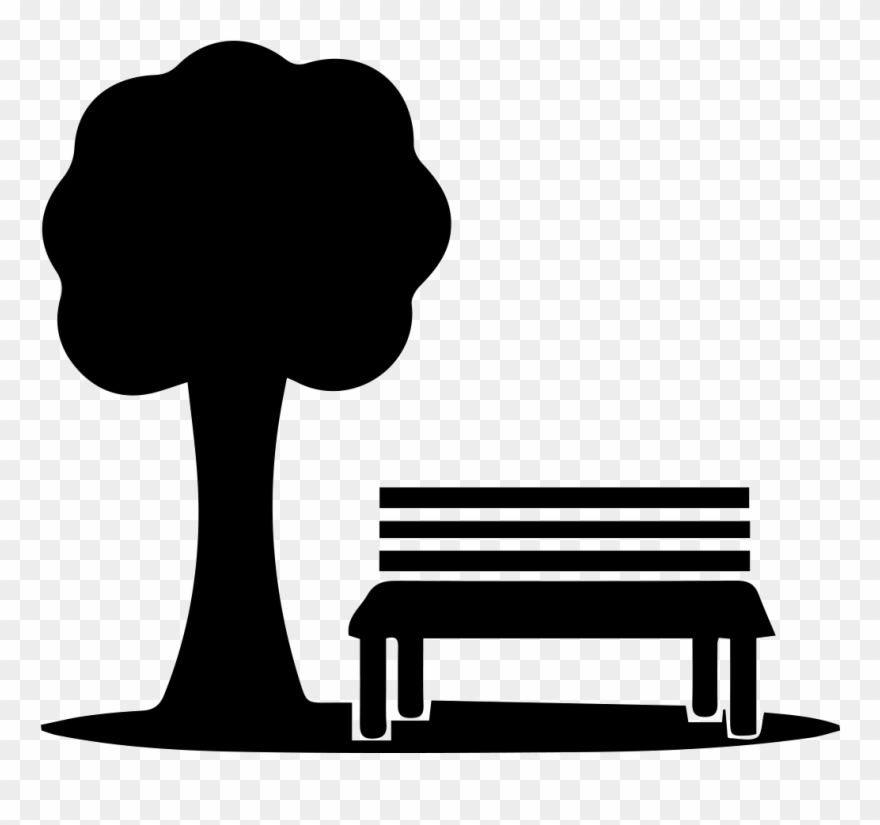 Br x . Bench clipart park tree