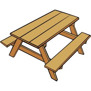 collection of high. Bench clipart picnic