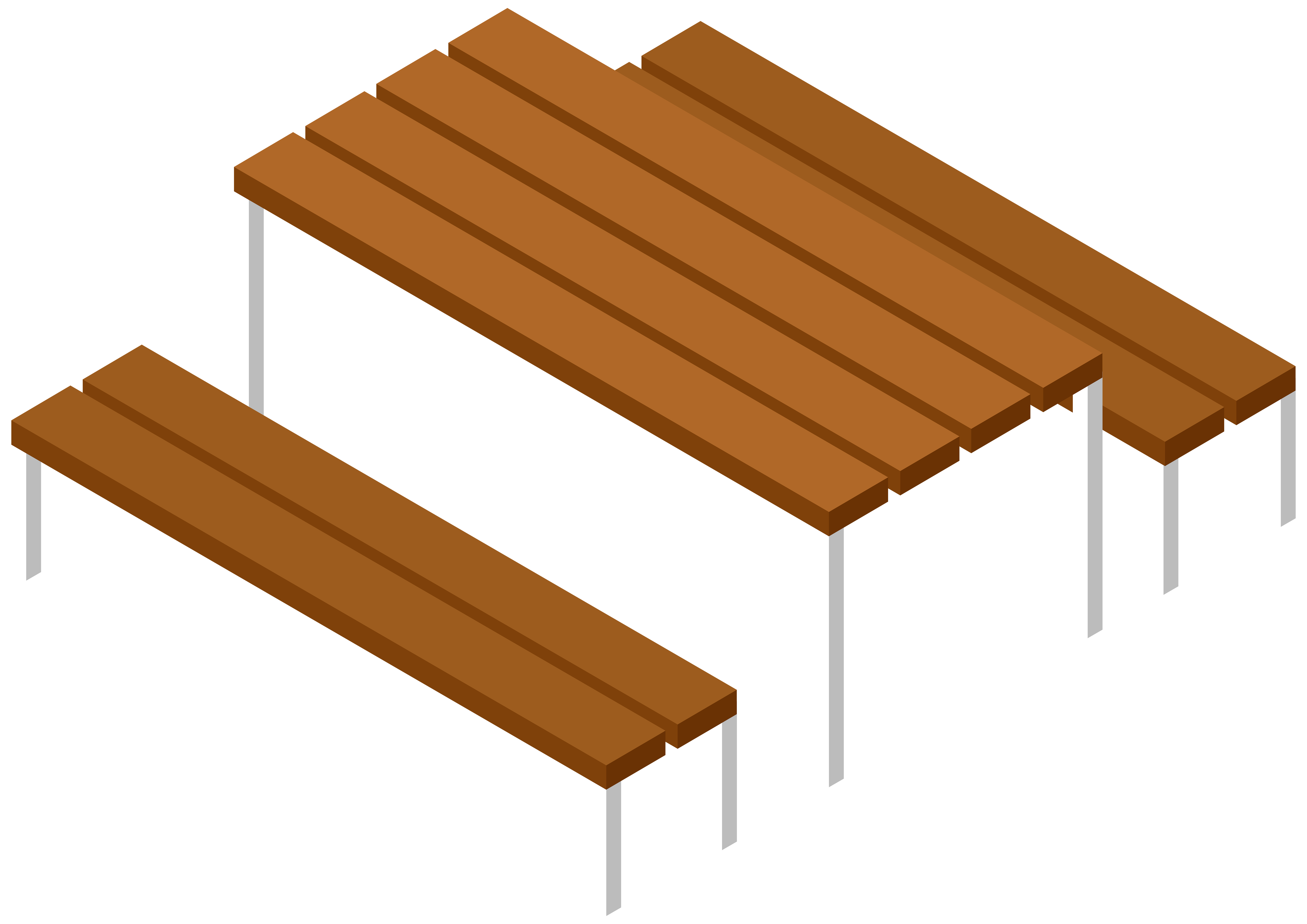 Picnic table and bench. Staircase clipart fancy