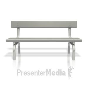 Presenter media powerpoint templates. Bench clipart school bench