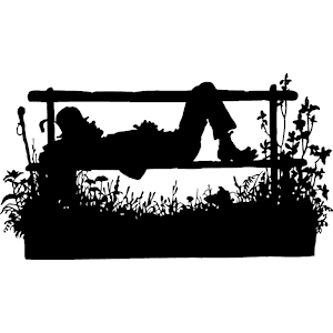 Bench clipart silhouette. Sleeping on cliparts of