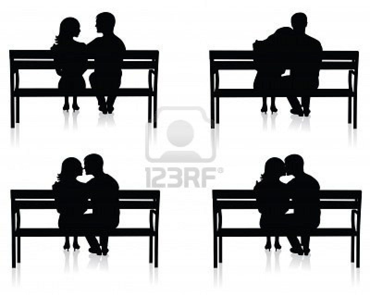 Image detail for different. Bench clipart silhouette