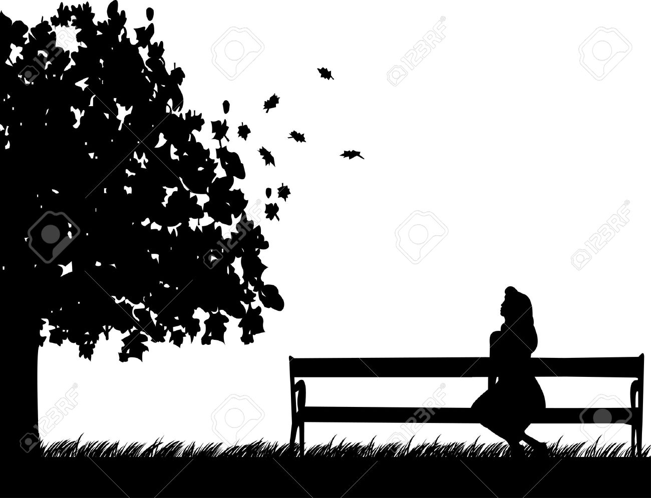 Bench clipart silhouette.  best waiting benches