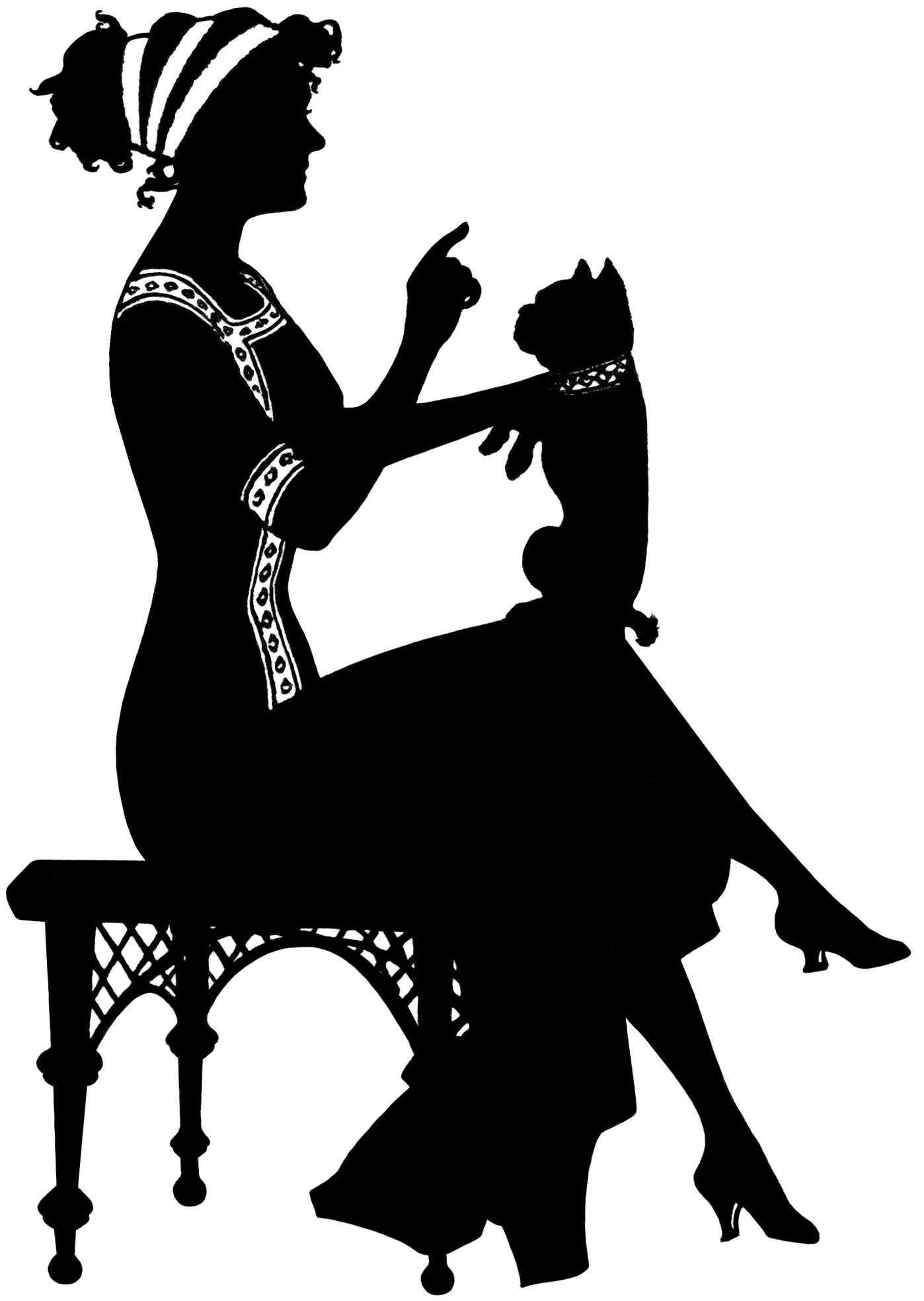 Free vintage image of. Bench clipart silhouette