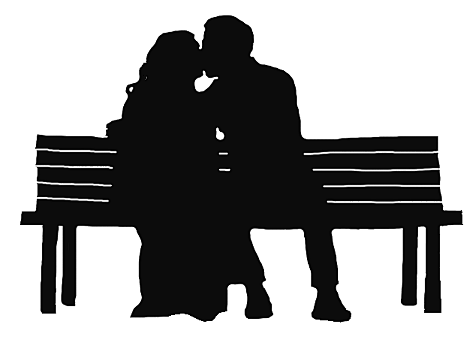 Bench clipart silhouette. Similiar sitting on cartoon