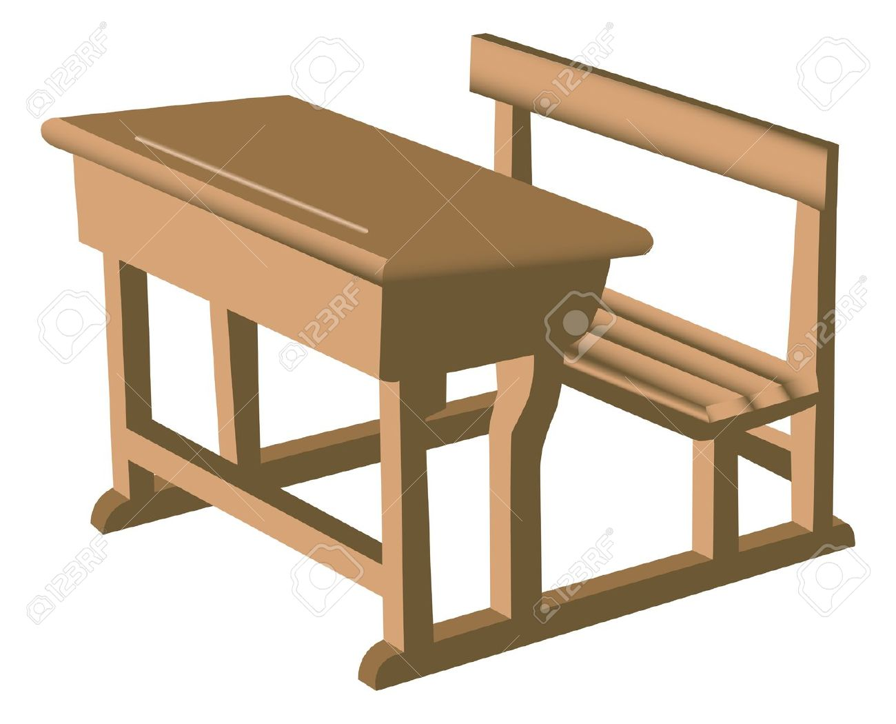 Furniture clipart school. Wood bench free collection
