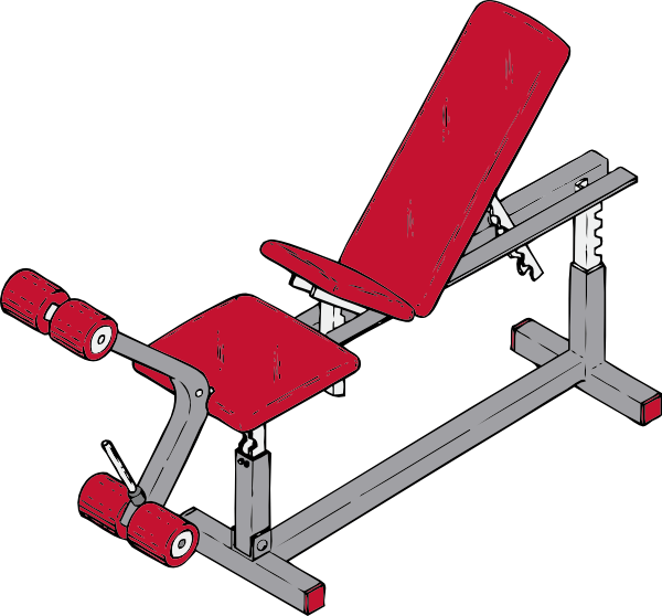 Bench clip art at. Weight clipart exercise tool