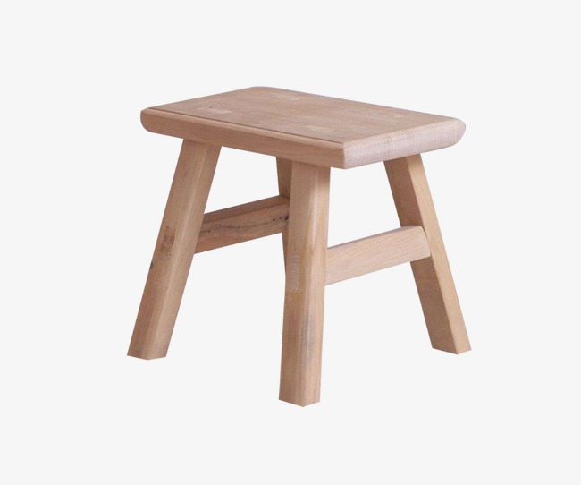 Students wooden seat stool. Bench clipart spring