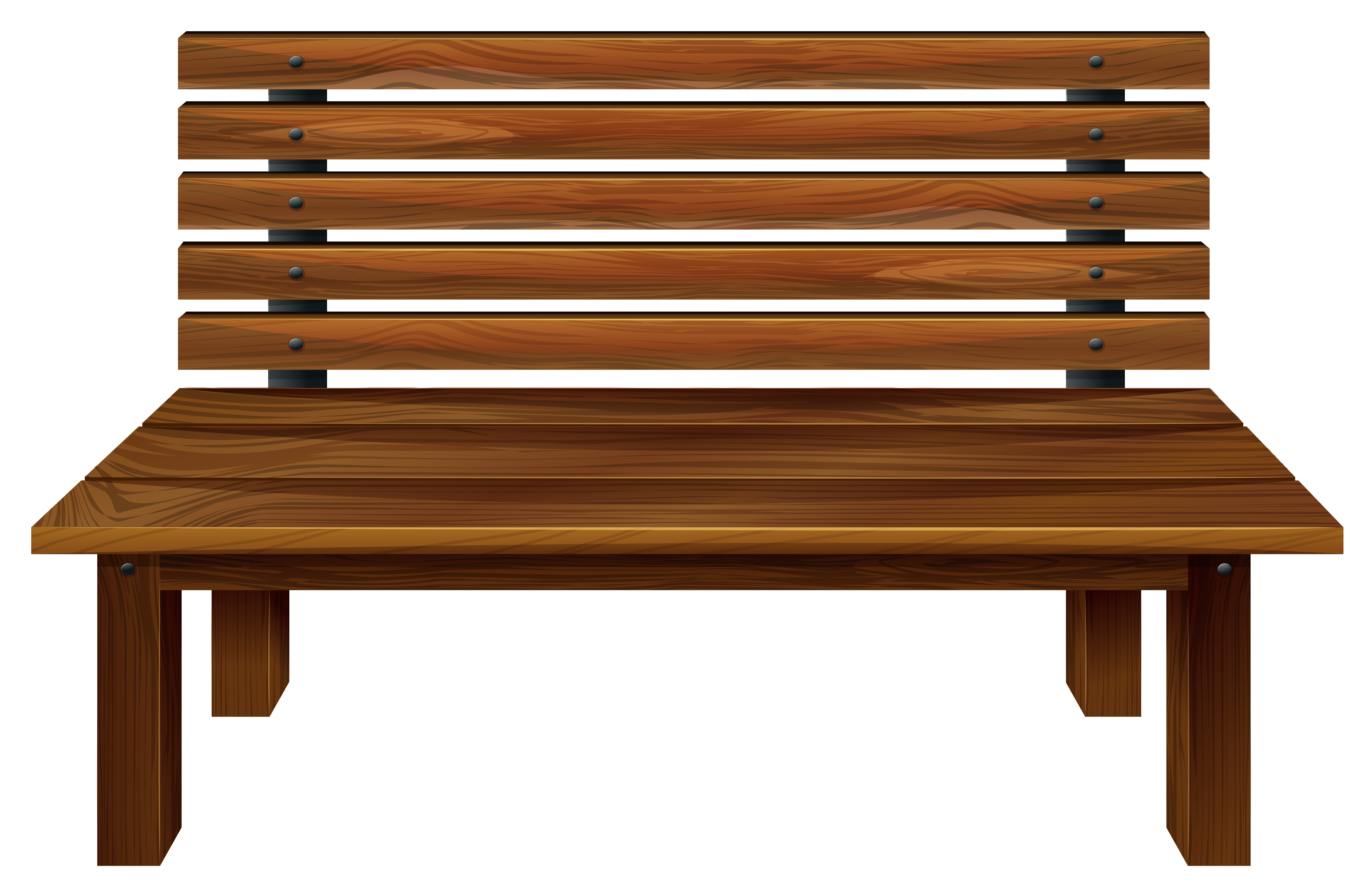 Wooden png image gallery. Bench clipart transparent