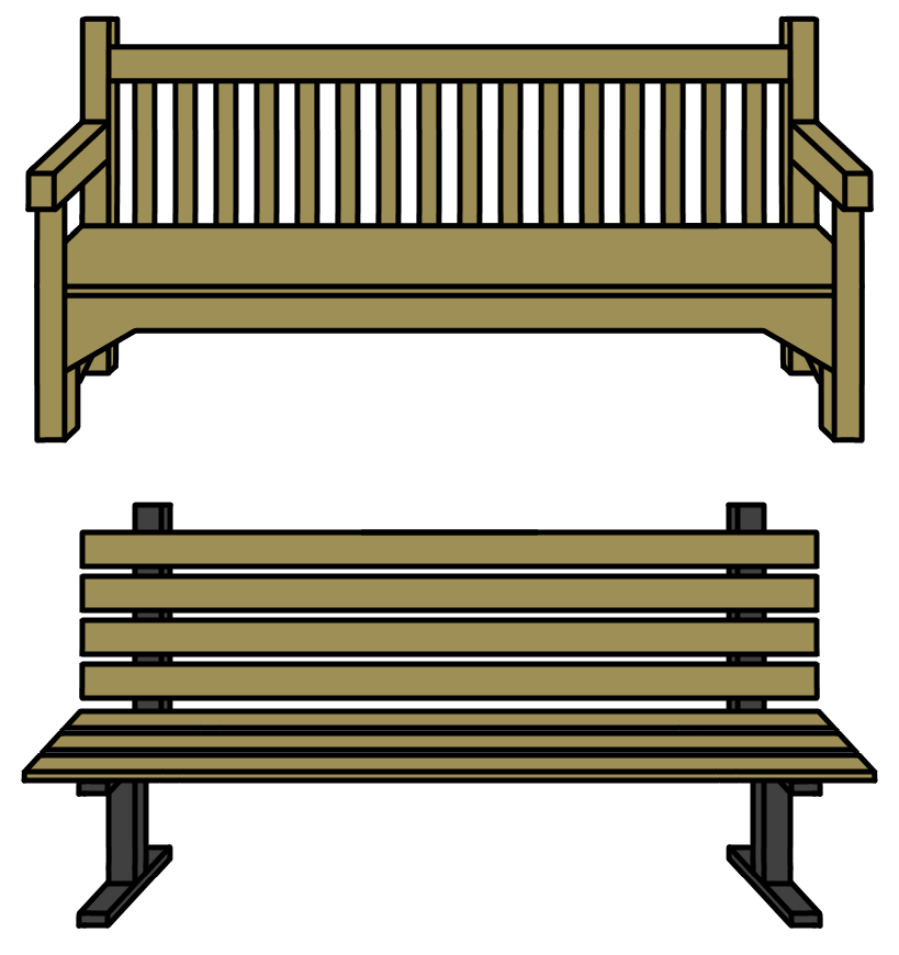 Walfas custom props furniture. Bench clipart transparent