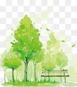 Bench clipart tree. Park png vectors psd