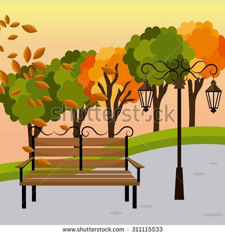 Park bence garden pencil. Bench clipart tree