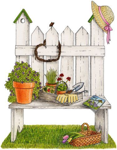 Gardening clipart country. Pinteres more