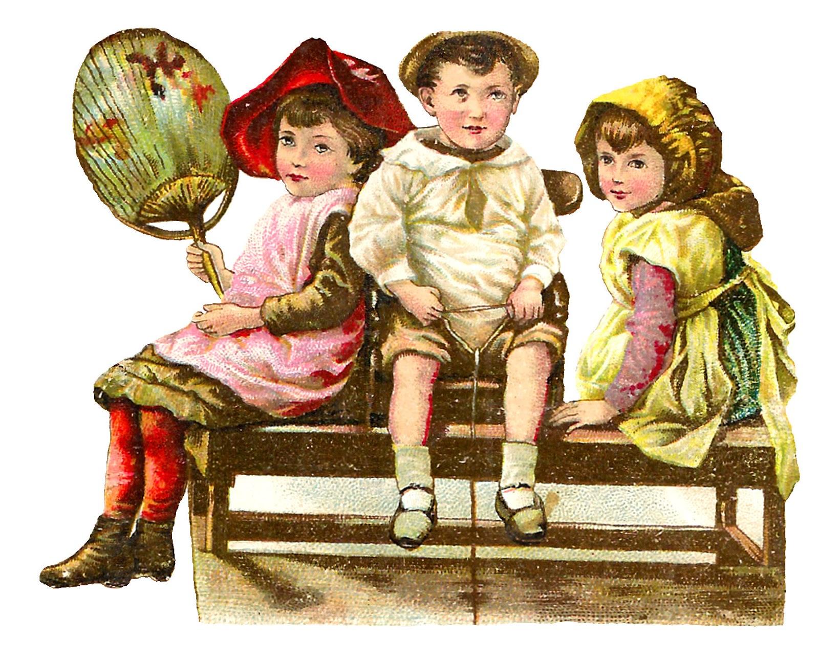 Antique images free victorian. Bench clipart vintage